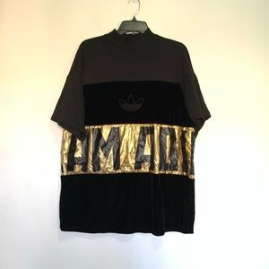 Adidas Black Velvet Oversized Top